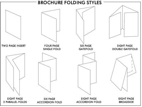 Paper Folding Styles - brochure design different brochure folding styles unique