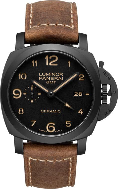 Luminor Panerai Skeleton Black Brown Leather inspire watches panerai luminor 1950 3 days gmt black brown leather mens