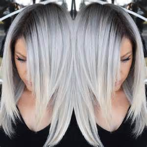 root hair color stunning multidimensional silver hair color design with