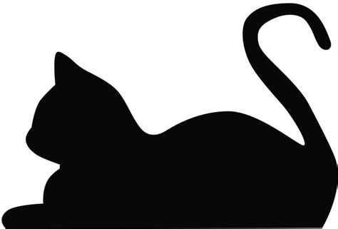 laying cat silhouette a study in silhouettes pinterest