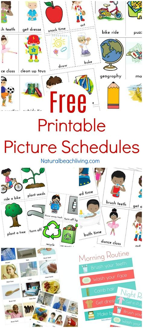 printable visual calendar free printable picture schedule cards visual schedule