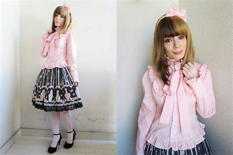 Angelic Top Black Blouse federica d devilinspired pink blouse angelic pretty