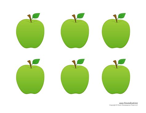 Printable Apple Template