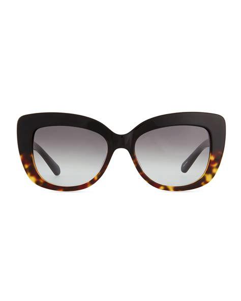 Kate Spade Sunnies 1 lyst kate spade new york ursula glitter cat eye sunglasses in brown