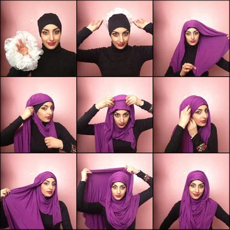 how to wear hijab hijab styles tutorial step by step images showing how to wear a white hijab hijabiworld