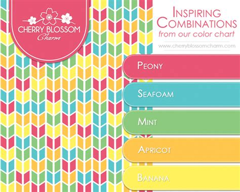 fun color schemes color combinations cherry blossom charm