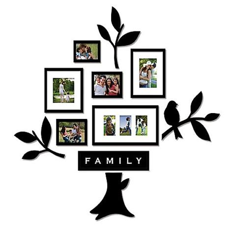 bed bath and beyond family tree wallverbs family tree 11 piece frames and plaques set
