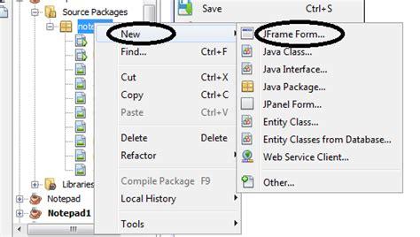 java tutorial using notepad tutorial aplikasi notepad menggunakan java netbeans