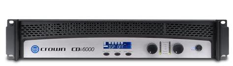 Stereo Lightweight Lifier Ecler Lpa 6000 Original cdi 6000 crown audio professional power lifiers