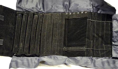 rotoli porta gioielli rotolo porta gioielli nero roll organizer