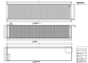 Standard Bathroom Layout Dimensions Shipping Container Technical Drawing 12m 40ft Eco