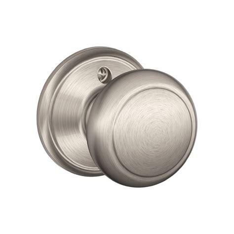 shop schlage f andover satin nickel dummy door knob at
