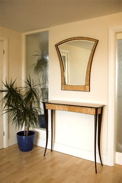 hand crafted hall table  mirror  nicholas chandler