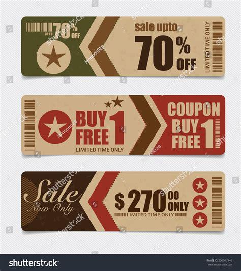 sale coupon voucher tag vintage style stock vector