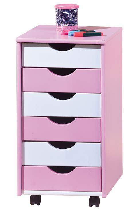 cassettiere cameretta cassettiera moderna pink mobile cameretta bambina rosa