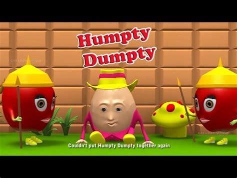 full humpty dumpty nursery rhyme full download humpty dumpty 3d animation english nursery