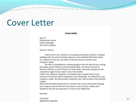 proposal sales cover letter