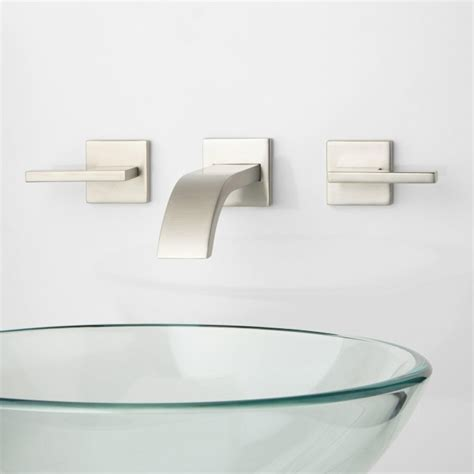 ultra wall mount bathroom faucet lever handles wall
