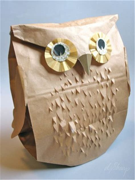 Owl Paper Bag Craft - preschool crafts for paper bag owl craft