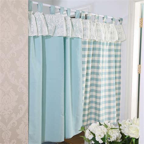 short door curtains set japanese style plaid short lace kitchen curtains for