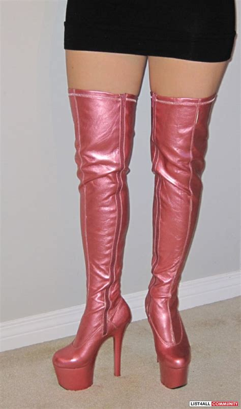 dancer costume thigh high boots size 6