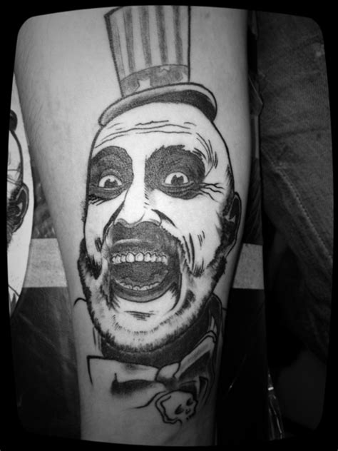 captain spaulding tattoo fyeahtattoos house of 1000 corpses by ben shoten