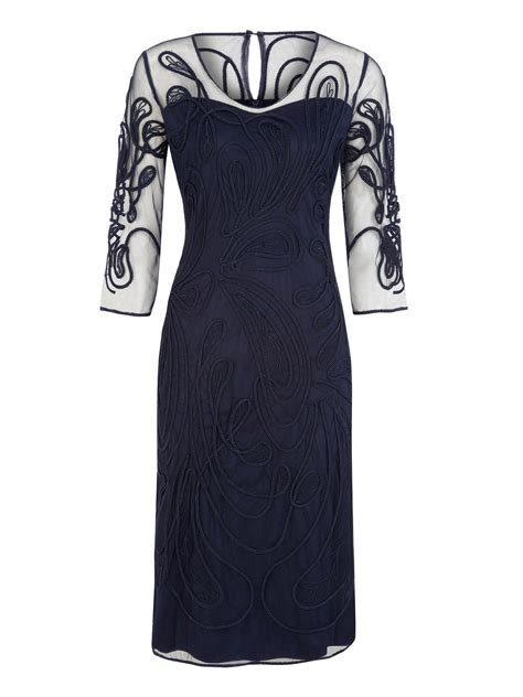 Navy Fashion jacques vert cornelli sheer navy dress in blue lyst