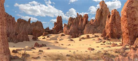rock desert landscape  model turbosquid