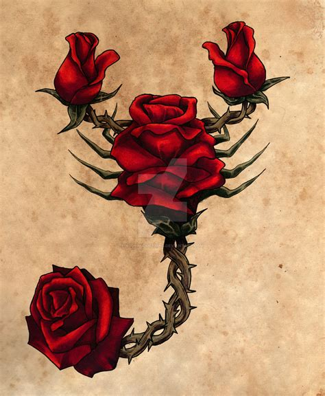 rose scorpion by auditiesart on deviantart