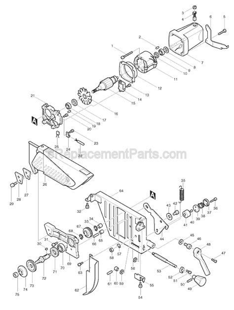 makita table saw parts makita 2711 parts list and diagram ereplacementparts com