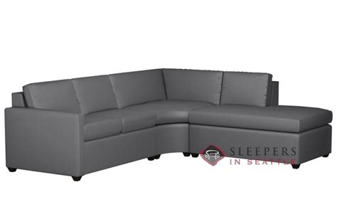 leather sleeper sectional with chaise customize and personalize terra chaise sectional leather