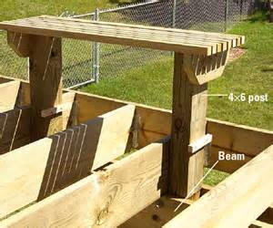 making built  benches   deck custom touches