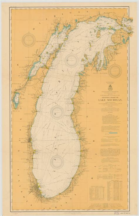 lake michigan historical map  cartography