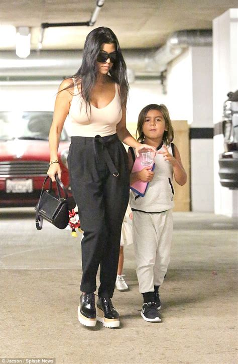 36 In Vanity With Top by Kourtney Kardashian Taking Mason And Penelope To The