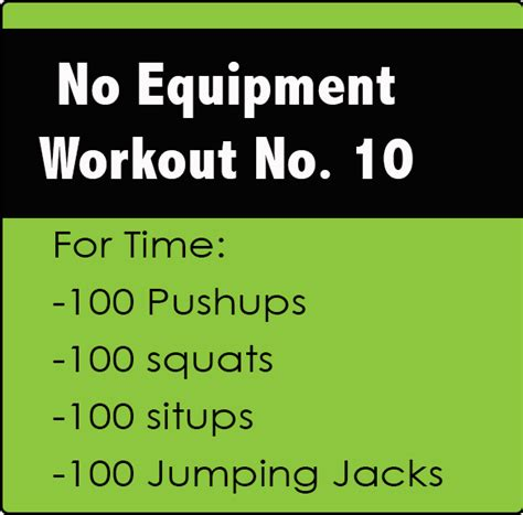 no equipment crossfit workout no 10 the new lighter