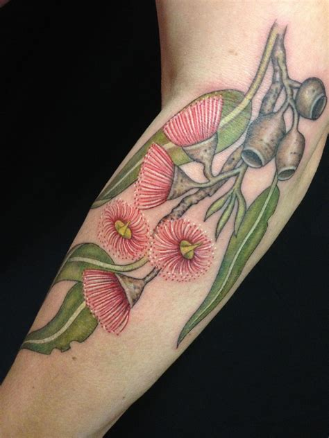 botanical tattoo designs australian plant botanical tattoos