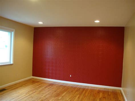 accent walls and on