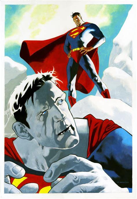 superman painting kevin nowlan superman bizarro painting