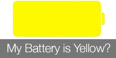 yellow battery on iphone what does this