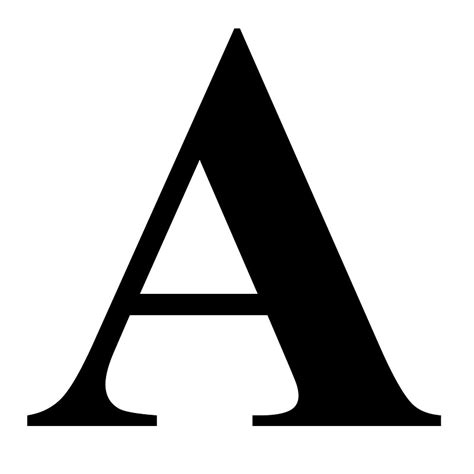 quot the letter a in black times new serif font typeface quot stickers by ukedward redbubble