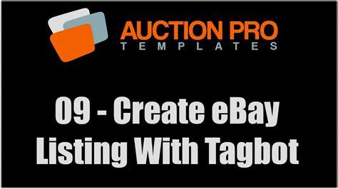 create ebay listing template 09 how to create ebay listing template using tagbot
