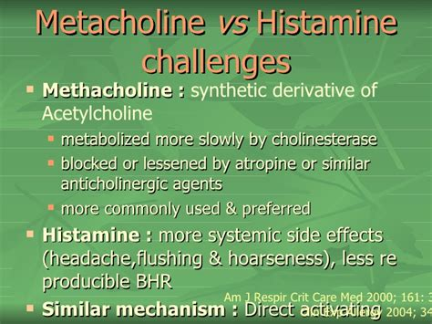 histamine challenge test nasal and bronchial provocation tests
