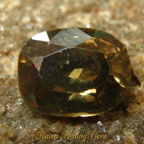 Hesonite Garnet Ls129 Memo Igl 1 batu permata zircon cushion cut brownish yellow 2 54 carat
