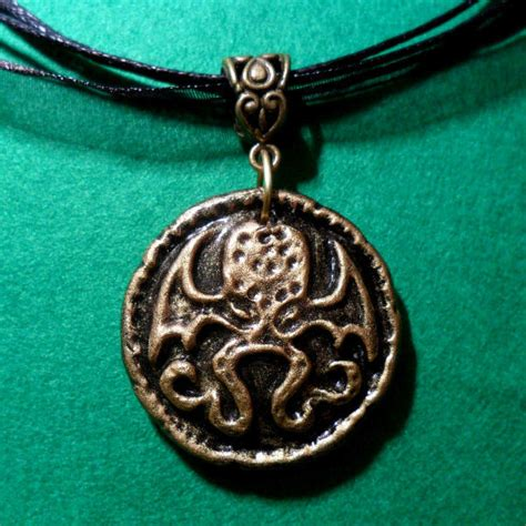 cthulhu medallion necklace antique brass buy horror