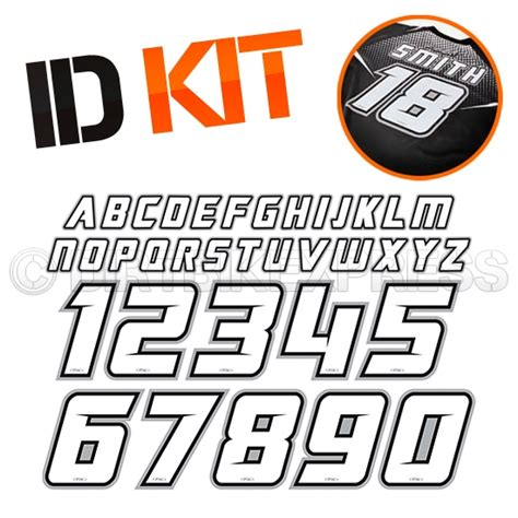 motocross jersey numbers factory effex iron on id name number kit dirtbikexpress