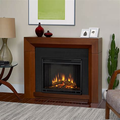 real hughes vintage black maple electric fireplace