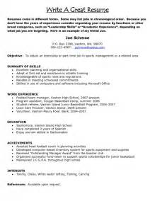 Exle Of How To Write A Resume by How To Type A Resume Sles Of Resumes