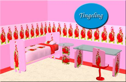 strawberry shortcake bedroom mod the sims member tingeling