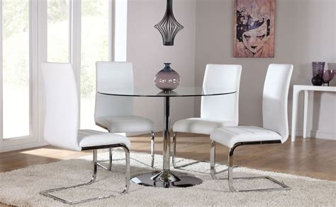 glass dining table and chairs set orbit glass chrome dining table and 4 chairs set