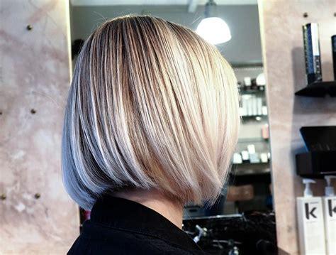 coupe carr 233 plongeant blond cizor s coiffeur visagiste